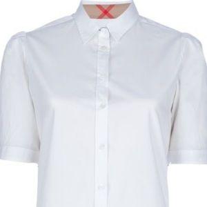 Burberry Women's White Short Sleeved Shirt